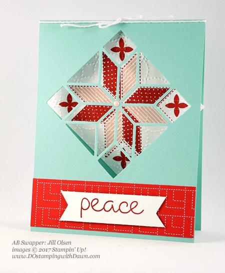 Stampin' Up! Christmas Quilt bundle cards shared by Dawn Olchefske #dostamping #stampinup #handmade #cardmaking #stamping #diy #rubberstamping #christmascards #christmasquilt (Jill Olsen)