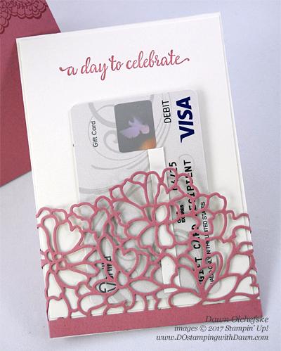 Stampin' Up! So Detailed Thinlit Die gift card by Dawn Olchefske #dostamping  #clearancerack #diy #stampinup #so