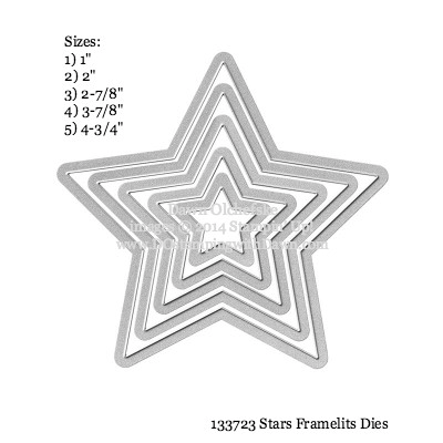 Star Framelit sizes shared by Dawn Olchefske #dostamping #stampinup