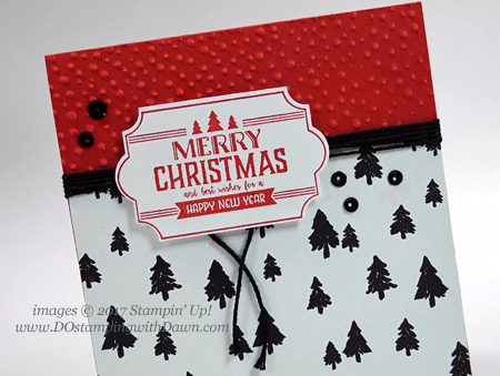 Stampin' Up! Label to Love stamp set shared by Dawn Olchefske #dostamping  #stampinup #handmade #cardmaking #stamping #diy #rubberstamping #christmascards