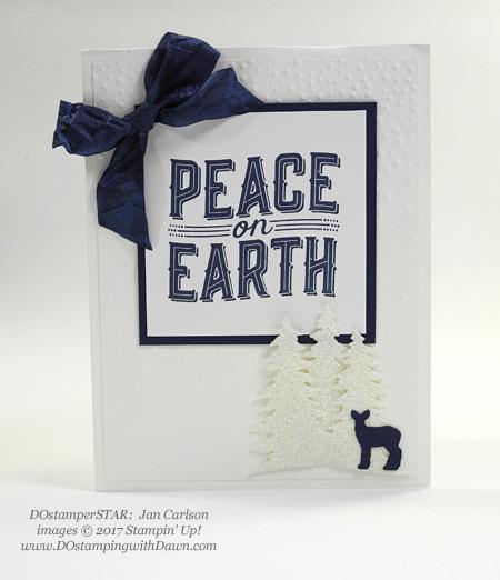 Stampin' Up! Carols of Christmas stamp set and Card Front Builder Thinlit Dies shared by Dawn Olchefske #dostamping #stampinup #handmade #cardmaking #stamping #diy #rubberstamping (Jan Carlson)
