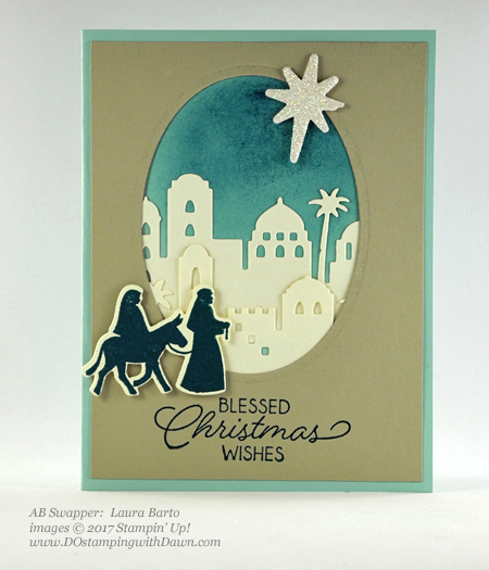 Stampin' Up! Night in Bethlehem stamp set and Bethlehem Edgelits Dies shared by Dawn Olchefske #dostamping #stampinup #handmade #cardmaking #stamping #diy #rubberstamping (Laura Barto)