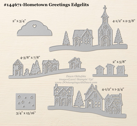 Hometown Greetings Edgelits sizes shared by Dawn Olchefske #dostamping #stampinup #framelits #thinlits #bigshot