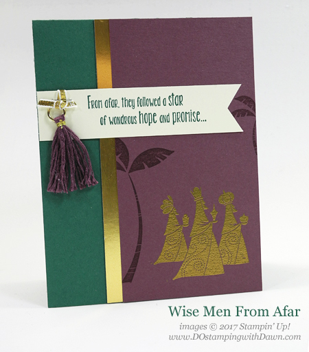 Stampin' Up! Wise Men from Afar shared by Dawn Olchefske #stampinup #dostamping #christmascards #diy #handmade