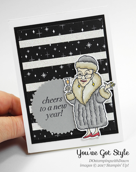 Stampin' Up!  Cheers to the Year, You've got Style cards shared by Dawn Olchefske #dostamping  #stampinup #handmade #cardmaking #stamping #diy #rubberstamping #happynewyear #youvegotstyle #yearofcheer #cheerstotheyear