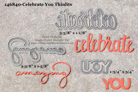 Stampin' Up! Celebrate You Thinlits #dostamping #stampinup #CelebrateYou #bigshot #diy #handmade #cardmaking