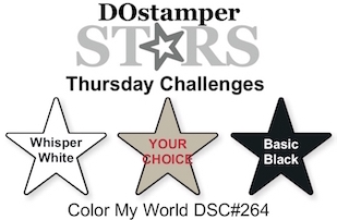 DOstamperSTARS Thursday Challenge #264-Color My World #dostamping