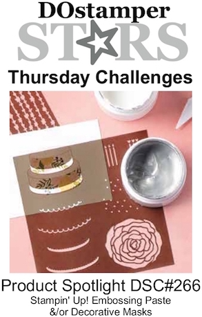 DOstamperSTARS Thursday Challenge #266-Product Spotlight #dostamping