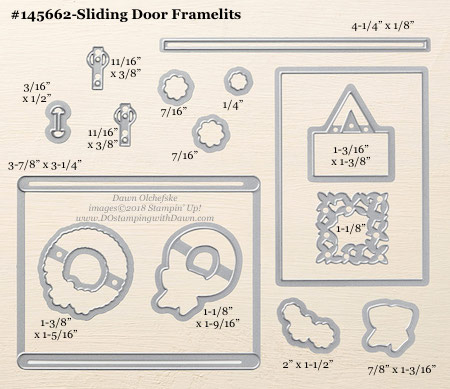 Stampin' Up! Sliding Door Framelit #dostamping #stampinup #SlidingDoor #bigshot #diy #handmade #cardmaking