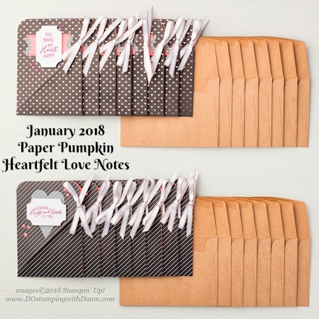 January 2018 Heartfelt Love Notes PP kit