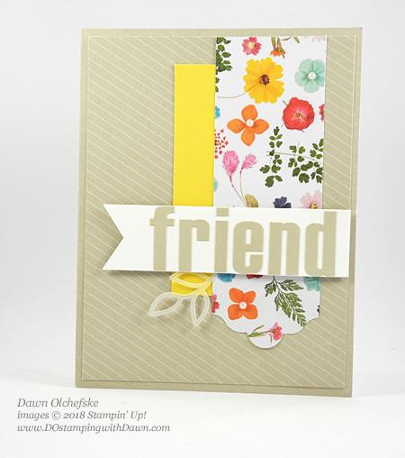 Wildflower Wishes February 2018 Paper Pumpkin Kit alternate ideas by Dawn Olchefske #stampinup #paperpumpkin #cardmaking #cardkit #rubberstamping #diy #wildflowerwishes