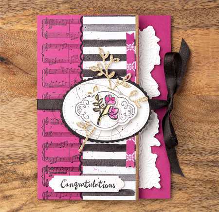 Stampin' Up! Petal Passion Suite card from Sara Douglass & Shelli Gardener for Million Dollar Sales Milestone achiever Dawn Olchefske #dostamping  #stampinup #handmade #cardmaking #stamping #diy #rubberstamping #papercrafting #petalpassionsuite #milliondollarachiever