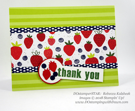 Stampin' Up! Fruit Basket Stamp Set and Itty Bitty Fruit Punch Pack shared by Dawn Olchefske #dostamping #stampinup #handmade #cardmaking #stamping #diy #rubberstamping #papercrafting (Rebecca Kalsbeek)