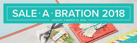 Sale-a-Bration ends 3/31/2018 - get free product with $50 order! #stampinup #saleabration #dostamping | Shop with Dawn at http://dostamping.stampinup.net