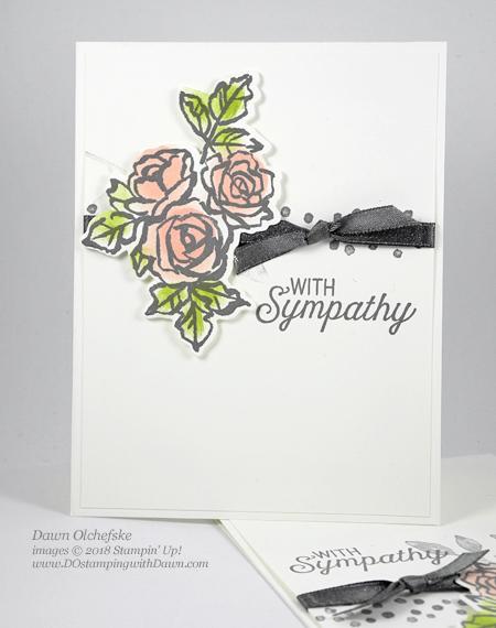 Stampin' Up! Petal Palette sympathy card by Dawn Olchefske #dostamping #stampinup #handmade #cardmaking #stamping #diy #rubberstamping #papercrafting #petalpalette #sympathy