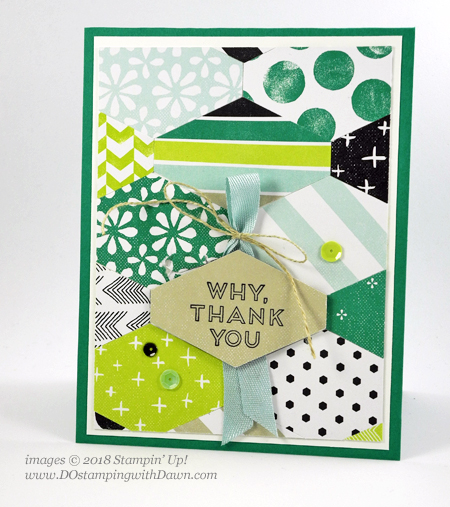 Stampin' Up! Tailored Tag Punch card by Dawn Olchefske for DOstamperSTARS Thursday Challenge #DSC277 #dostamping #stampinup #handmade #cardmaking #stamping #diy #rubberstamping #papercrafting #thankyoucard #tailoredtagpunch #memoriesandmore