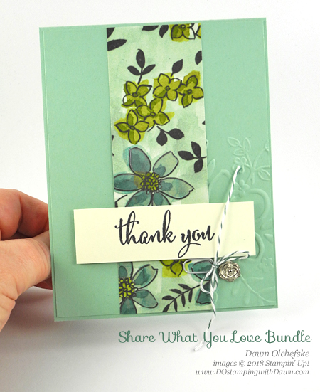 Stampin' Up! product Share What You Love Suite Sneak Peek card by Dawn Olchefske for DOstamperSTARS Thursday Challenge #DSC279 #dostamping #stampinup #handmade #cardmaking #stamping #diy #rubberstamping #papercrafting #sharewhatyoulove #thankyoucards