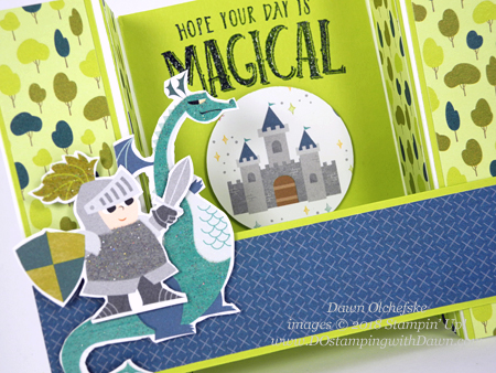 Stampin' Up! Magical Day Bridge Fold Card & video by Dawn Olchefske #dostamping  #stampinup #handmade #cardmaking #stamping #diy #rubberstamping #papercrafting #magicaldaystampset #myths&magic  #birthdaycards #howdshedothat #bridgefoldcard