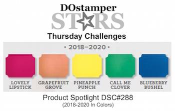 DOstamperSTARS Thursday Challenge #DSC288 Product Spotlight #dostamping #stampinup #handmade #cardmaking #stamping #diy