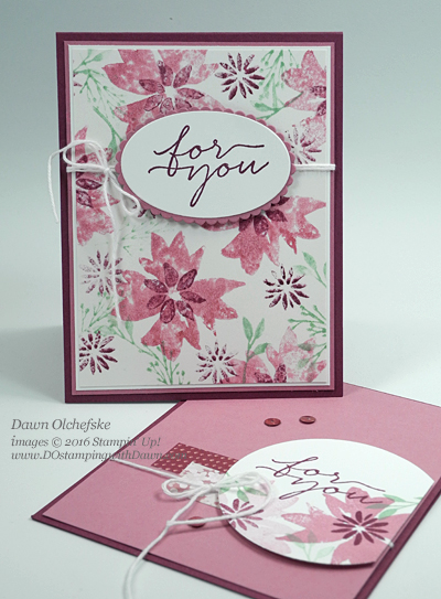 Blooms & Wishes card created by Dawn Olchefske for Control Freak Blog Tour #dostamping #stampinup
