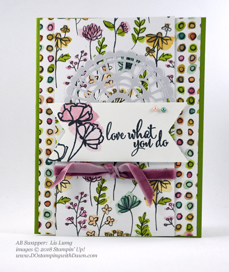 Only a few days left of Stampin' Up!'s Share What You Love promotion.  Check out these swaps shared by Dawn Olchefske #dostamping  #stampinup #cardmaking #stamping #rubberstamping #papercrafting #sharewhatyoulove (Lis Lung)