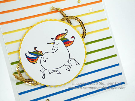 Stampin' Up! Magical Day Bundle Rainbow Unicorn card shared by Dawn Olchefske #dostamping  #stampinup #handmade #cardmaking #stamping #diy #rubberstamping #papercrafting #magicaldaystampset #myths&magic #birthdaycards #unicorncards