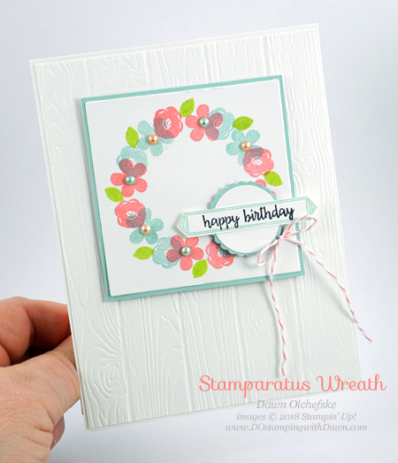 Make your own wreath template to use in the Stamparatus by Dawn Olchefske -  #dostamping  #stampinup #handmade #cardmaking #stamping #diy #rubberstamping #papercrafting #birthdaycards #happybirthdaygorgeous #stamparatus #stampinblends