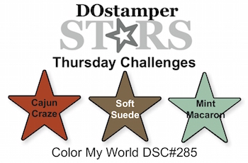 DOstamperSTARS Thursday Challenge #285-Color My World #dostamping