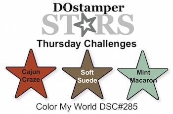 DOstamperSTARS Thursday Challenge #285-Color My World #dostamping