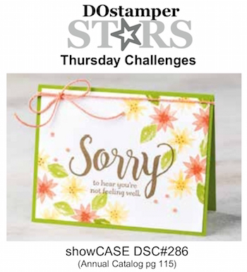 DOstamperSTARS Thursday Challenge #DSC286 showCASE Annual Catalog pg 115 #dostamping #stampinup #handmade #cardmaking #stamping #diy