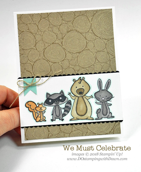 Stampin' Up! retiring We Must Celebrate card shared by Dawn Olchefske for DOstamperSTARS Thursday Challenge #DSC282 #dostamping #stampinup #handmade #cardmaking #stamping #diy #rubberstamping #papercrafting #kidscards #masculinecards #wemustcelebrate #birthdaycards