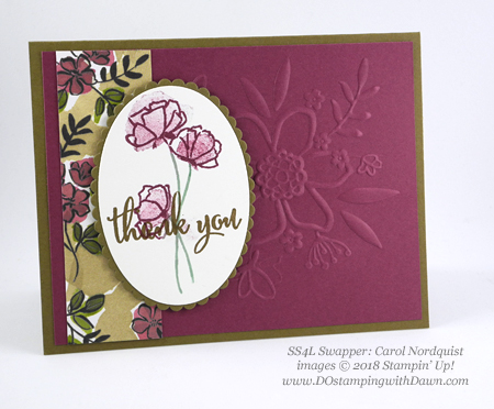 Stampin' Up! Share What You Love swap cards shared by Dawn Olchefske #dostamping  #stampinup #handmade #cardmaking #stamping #diy #rubberstamping #papercrafting #sharewhatyoulove (Carol Nordquist)