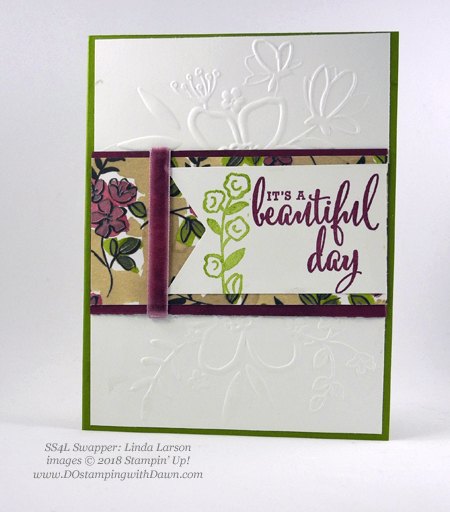 Stampin' Up! Share What You Love swap cards shared by Dawn Olchefske #dostamping  #stampinup #handmade #cardmaking #stamping #diy #rubberstamping #papercrafting #sharewhatyoulove (Linda Larson)