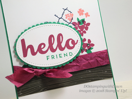 Stampin' Up! Hello Friend Heat Embossing Project Kit shared by Dawn Olchefske #dostamping  #stampinup #handmade #cardmaking #stamping #diy #rubberstamping #thinkingofyoucards