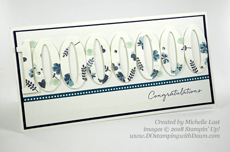 Stampin' Up! Large Numbers $1million card shared by Dawn Olchefske #dostamping  #stampinup #DOstamperstars #papercrafting (Michelle Last)