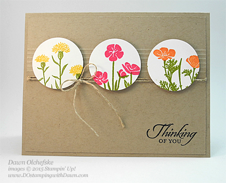 Wild About Flowers card by Dawn Olchefske for DOstamperSTARS Thursday Challenge #137 #dostamping #stampinup