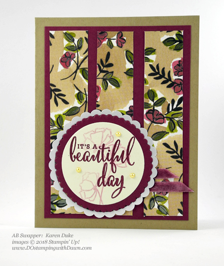 Only a few days left of Stampin' Up!'s Share What You Love promotion.  Check out these swaps shared by Dawn Olchefske #dostamping  #stampinup #cardmaking #stamping #rubberstamping #papercrafting #sharewhatyoulove (Karen Duke)