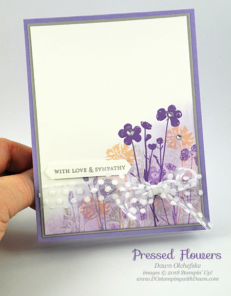 Stampin' Rewards Pressed Flowers stamp set shared by Dawn Olchefske #dostamping  #stampinup #cardmaking #stamping #rubberstamping #papercrafting #pressedflowers #sympathycards