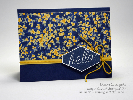 Stampin' Up! Accented Blooms & Garden Impressions DSP card by Dawn Olchefske for DOstamperSTARS Thursday Challenge #DSC284 #dostamping #stampinup #handmade #cardmaking #stamping #diy #rubberstamping #papercrafting #accentedblooms #gardenimpressions #thinkingofyou