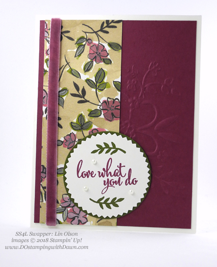 Stampin' Up! Share What You Love swap cards shared by Dawn Olchefske #dostamping #stampinup #handmade #cardmaking #stamping #diy #rubberstamping #papercrafting #sharewhatyoulove (Lin Olson)