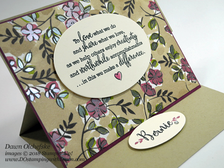 Stampin' Up! Share What You Love Easel Card by Dawn Olchefske #dostamping  #stampinup #handmade #cardmaking #stamping #diy #rubberstamping #papercrafting #gottahaveitallbundle #sharewhatyoulove