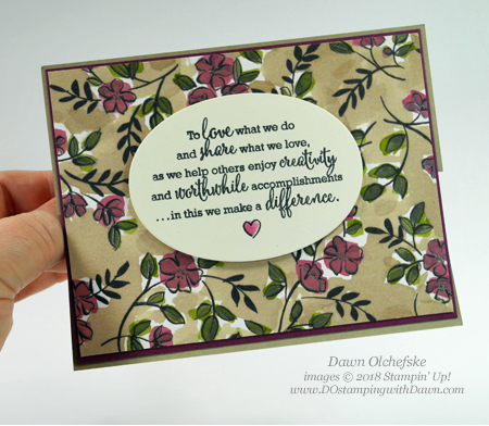 Stampin' Up! Share What You Love Easel Card by Dawn Olchefske #dostamping  #stampinup #handmade #cardmaking #stamping #diy #rubberstamping #papercrafting #gottahaveitallbundle #sharewhatyoulove #stamparatus
