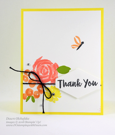 Stampin' Up! Abstract Impressions card by Dawn Olchefske for DOstamperSTARS Thursday Challenge #DSC283 #dostamping #stampinup #cardmaking #rubberstamping #papercrafting #thankyoucards #abstractimpressions