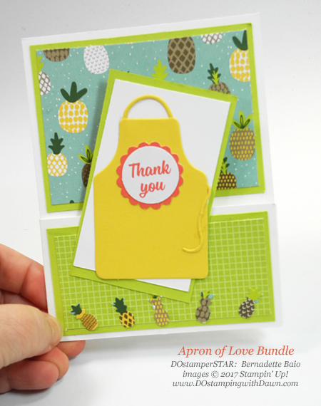 Stampin' Up! Apron of Love card shared by Dawn Olchefske #dostamping  #stampinup #DOstamperstars #papercrafting (Bernadette Baio)