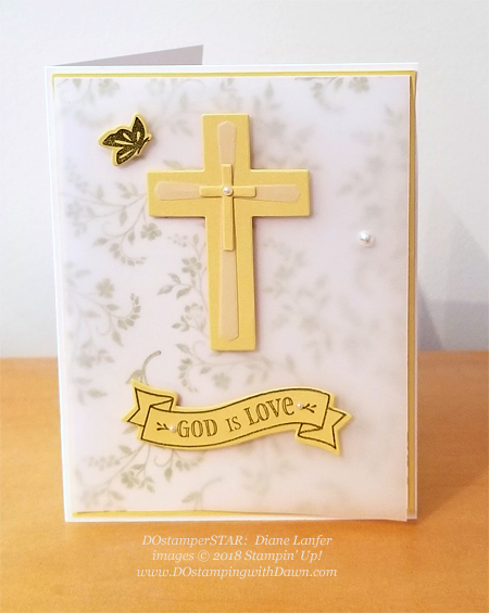 Stampin' Up! Hold on to Hope card shared by Dawn Olchefske #dostamping  #stampinup #DOstamperstars #papercrafting (Diane Lanfer)