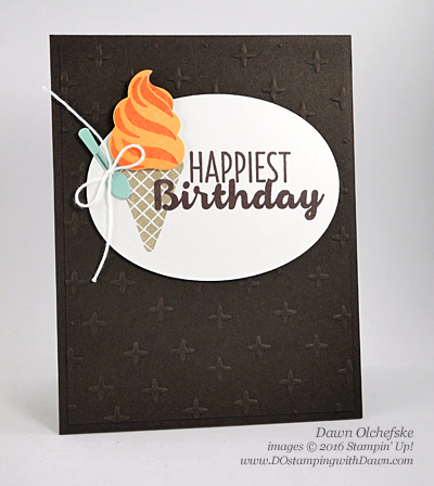 Stampin' Up! Cool Treats & Frozen Treats Framelits (from 2017 Occasions Catalog) by Dawn Olchefske #dostamping