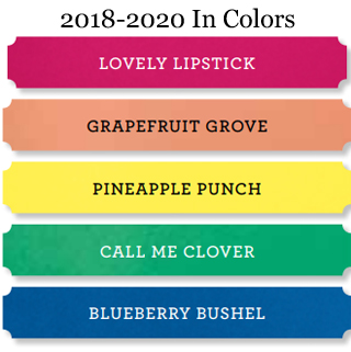 NEW Stampin' Up! 2018-2020 In Color Comparison shared by Dawn Olchefske #dostamping #stampinup #incolors