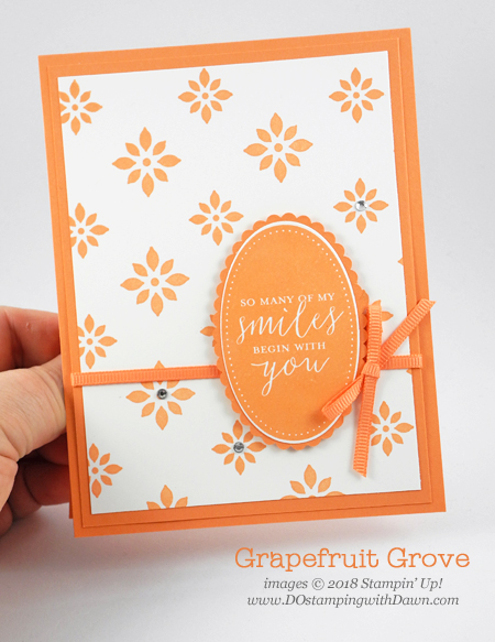 Grapefruit Grove NEW 2018-2020 In Color shared by Dawn Olchefske #dostamping #stampinup #incolors #cardmaking