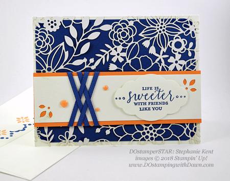 Stampin' Up! Detailed with Love card DOstamperSTARS swaps shared by Dawn Olchefske #dostamping #stampinup #handmade #cardmaking #stamping #papercrafting #dostamperstars (Stephanie Kent)