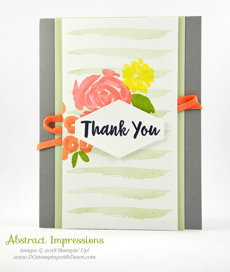 Stampin' Up! Abstract Impressions card shared by Dawn Olchefske #dostamping #stampinup #handmade #cardmaking #stamping #rubberstamping #papercrafting #stamparatus